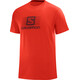 Salomon Blend Logo SS Tee Men fiery red